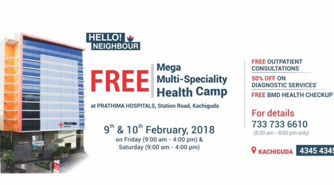 Free Mega Multi-Speciality Health Camp on 9th & 10th February